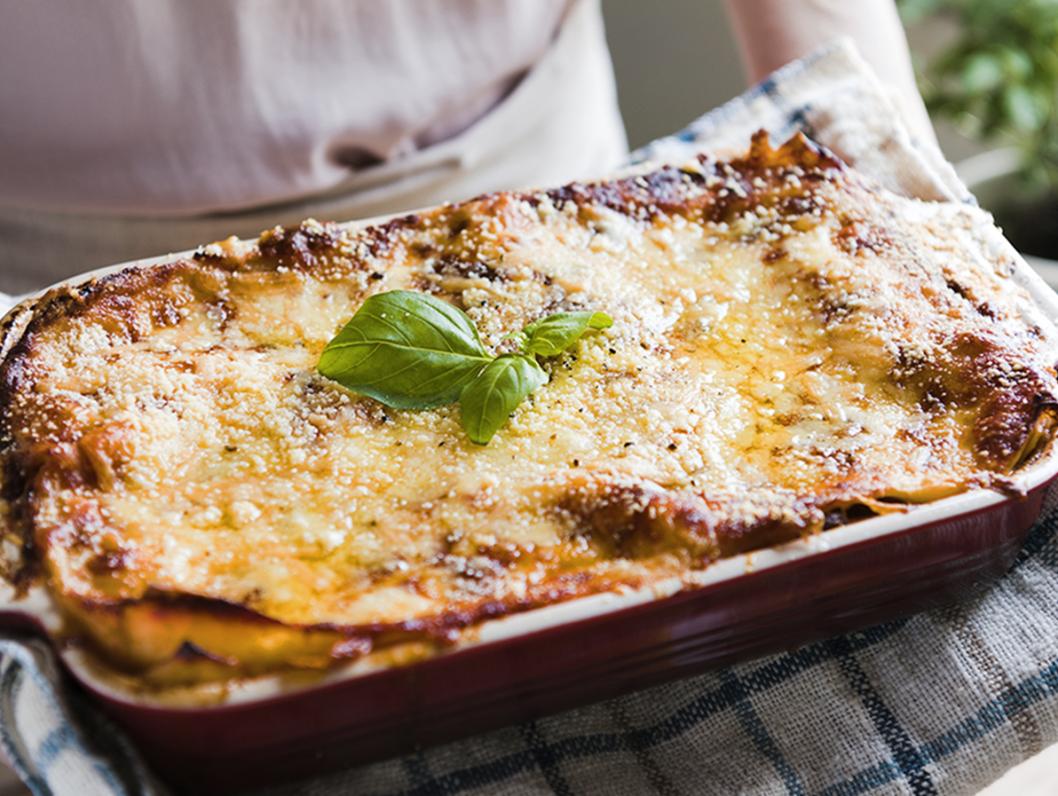 Lasagne mit Beefhack-Bolognese